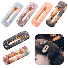 New Fashion 1Pc Vintage Women Acetic Acid Hair Clips Hairpins Leopard Print Waterdrop Barrettes Girls Hairgrips Accessories