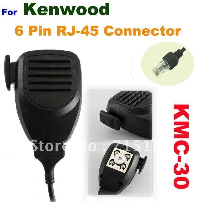 Mobile Mic KMC-30 6 Pin RJ-45 Connector For Kenwood TK868 TK-630 TK-730 TK-830 TK-760 TK-768 TK-768G
