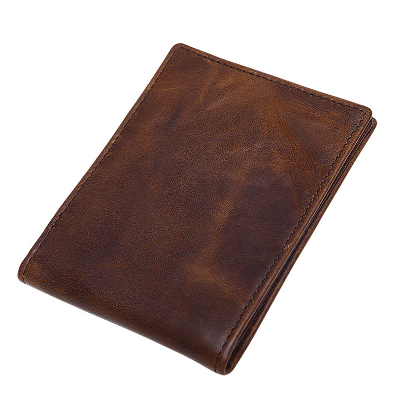 Crazy Horse Cow Leather Drivers License Wallet For Men Top Quality  Cover On The Car Driving ID Card Document Holder Leather