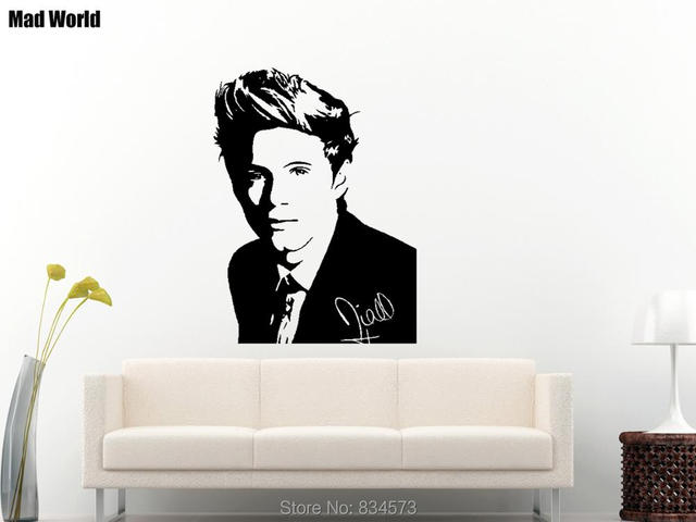 Mad World ONE DIRECTION 1D Celebrity Silhouette Wall Art Stickers ...