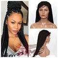 None Lace Box Braid Wigs with Natural Baby Hair Synthetic None Lace Japanese Kanekalon Braiding Wigs for African American