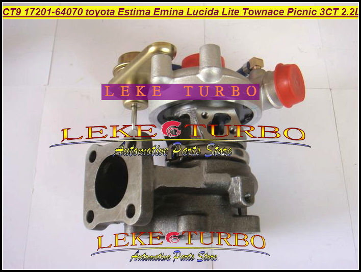 Free Ship New Turbo CT9 17201-64071 17201-64070 Turbocharger For TOYOTA Estima Emina Lucida Lite Townace Picnic 3CTE 3CT 2.2L D free ship ct9 17201 64160 17201 64160 1720164160 turbo turbocharger for toyota lite town liteace townace 3c t 3ct 3cte 2 2l 90hp