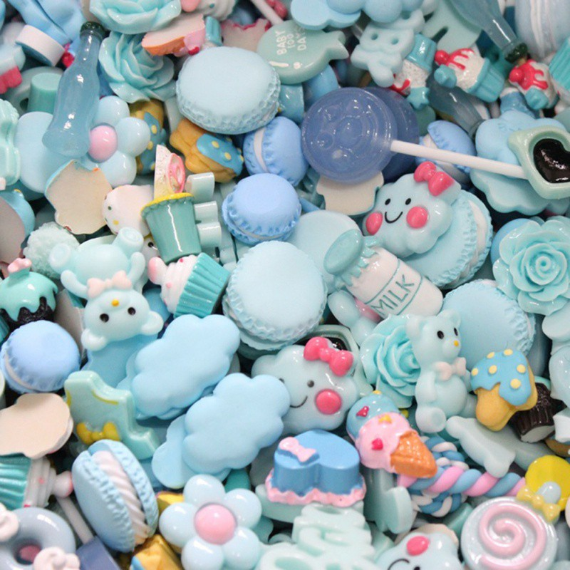 30pcs/lot Mix Kawaii Resin Food Crafts Resin Flatback Cabochons For Phone Decoration Crafts Scrapbooking DIY Accessories
