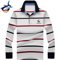 46f2850781 2019 Men Polo Shirt Brand High Quality Striped Polo Shirt Men Long Sleeve  3D Embroidery Tace