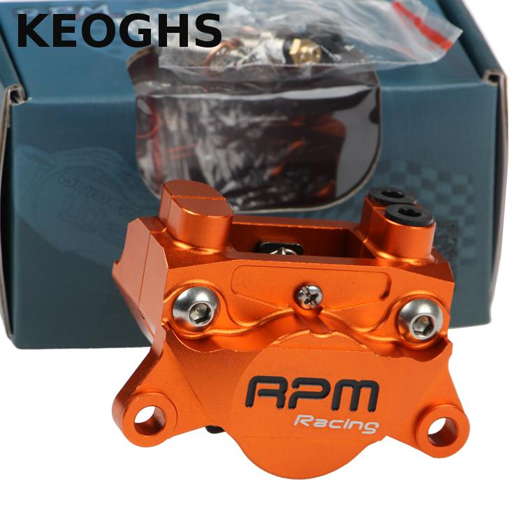 KEOGHS Motorcycle Rpm Cnc Rear Brake Caliper 2 Piston 84mm Pitch Location Hydraulic Disc Brake Pumb For Yamaha Scooter Modify keoghs motorcycle rear hydraulic disc brake set for yamaha scooter dirt bike modify 220mm 260mm floating disc with bracket
