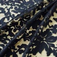 Hot Sale Maple Leaf Embroidered Lace Fabric Organza Milk Silk Fabric 130cm 5yards Luxury Dress Fabric