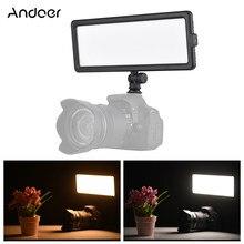 Andoer – panneau d'éclairage vidéo LED Super fin, 3200K – 5600K, bicolore, luminosité variable, avec support pour chaussure froide, pour Sony DSLR Canon Nikon