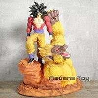 Жемчуг дракона GT Супер Saiyan 4 Сон Гоку и Золотая Горилла смолы статуя фигурка Коллекционная модель игрушки подарок