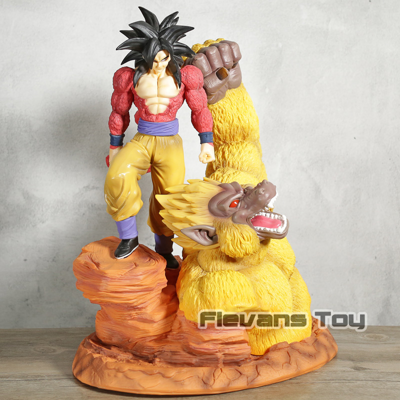 Dragon Ball GT Супер Saiyan 4 Сон Гоку и золотой гориллы статуя из Смолы Рисунок Коллекционная модель игрушка в подарок