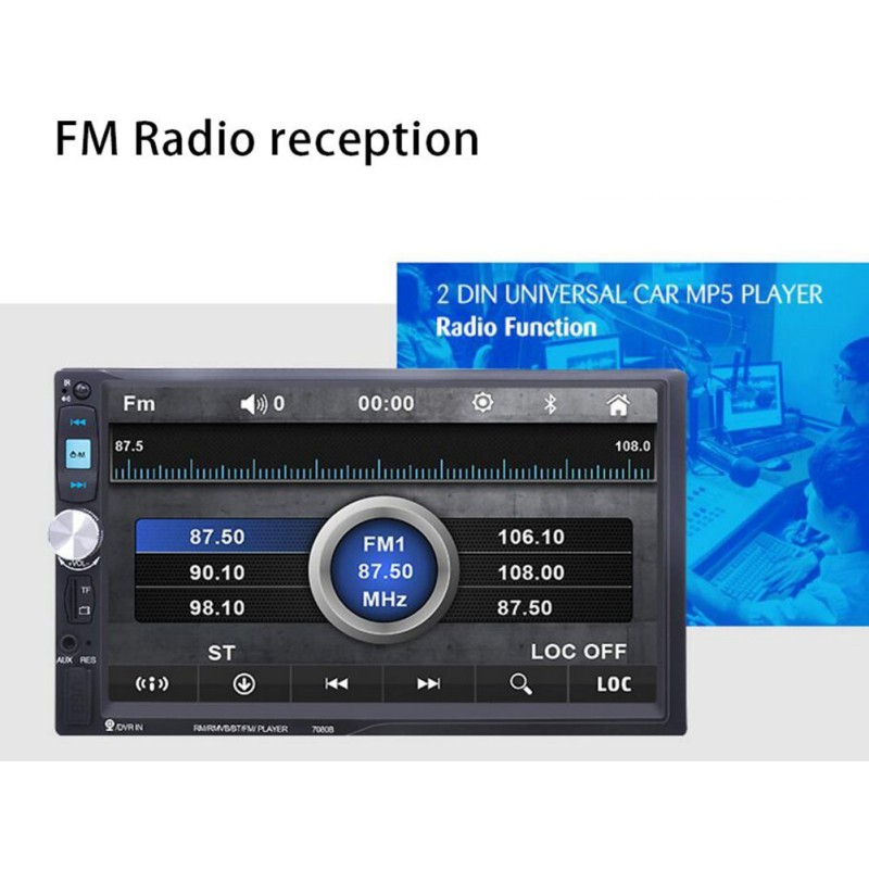 7 inch 7080b touch screen 2 din car radio in line auto. Black Bedroom Furniture Sets. Home Design Ideas