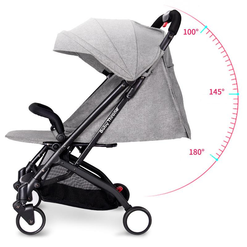 2017 Brand New 4 in 1 Newbore Umbrella Pram Lightest Portable Baby Strollers Four Wheels Anti-Shock One Key Folding Cart12