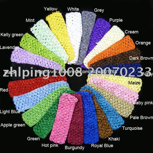 "wholesale 1.5"" Crochet headbands waffle headbands for baby toddler girls 24colors U-Pick"