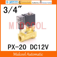 DC12V diaphragm brass water electromagnetic valve PX 20 port 3/4
