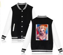 Suicide Squad Harley Quinn Women Jacket Hoodie and Long Coat Women Sweatshirt Clothing in Coats and Jackets