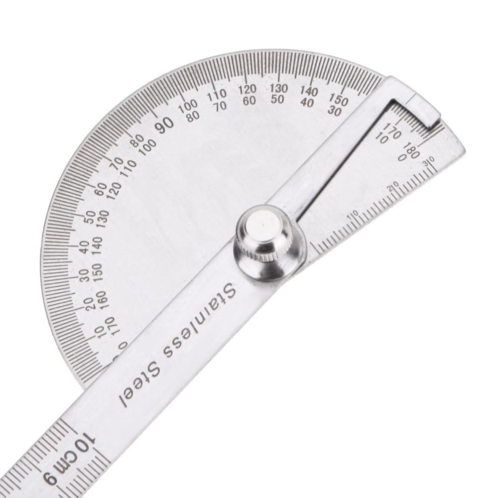 Obrotowa linijka pomiarowa ze stali nierdzewnej 180 stopni Kątomierz - Przyrządy pomiarowe - Zdjęcie 4