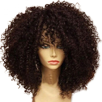Simebeaut Short Bob Lace Front Human Hair Wigs Afro Kinky Curly Brazilian Remy Hair Wigs Bleached Knots With PrePlucked Full End