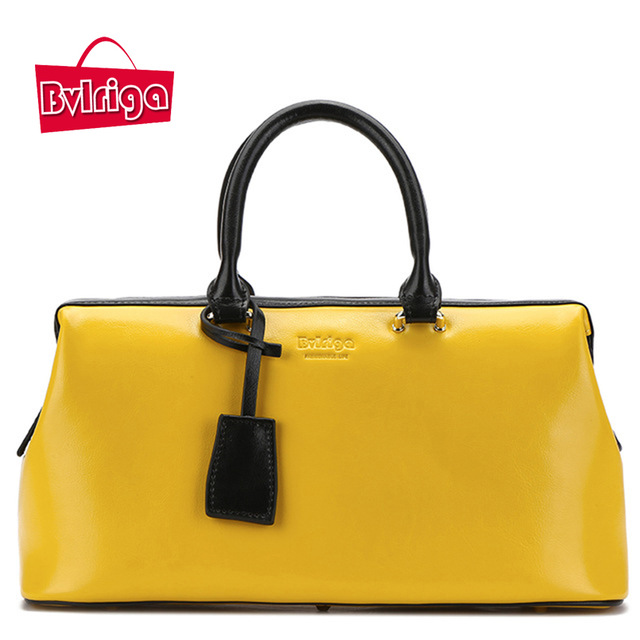 Bvlriga Women Handbag Genuine Leather Handbag Ladies Bag 2018 Yellow Bag  For Women Luxury Handbags Women Bags Designer 83299dbe039fa