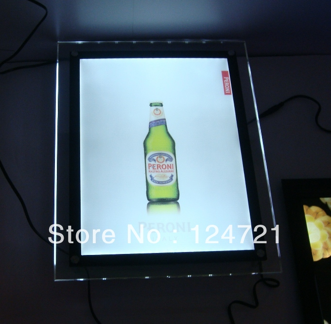 Led Crystal Advertising Light Box A1 Size Frame Acrylic