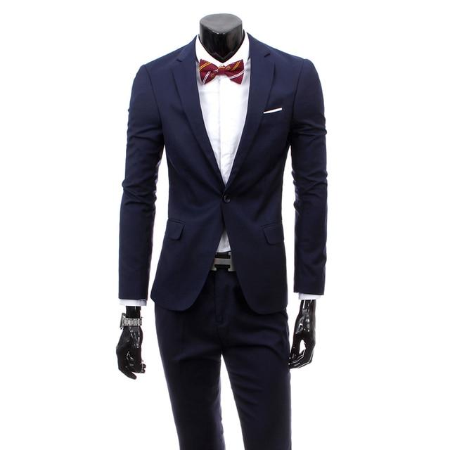 2017 New Brand Solid Suits Jacket Dress Men Suit Set Mens Suits Wedding  Groom Tuxedos (Jacket+Pants) Plus Size 3XL e763a3262668