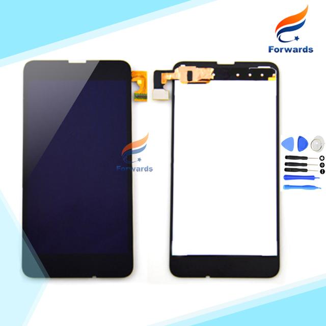 100% nueva negro probado pantalla lcd para nokia lumia 630 635 pantalla Táctil con Digitalizador asamblea 4.5 pulgadas 1 unidades el envío libre
