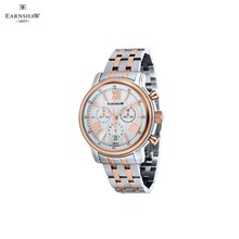 Наручные часы Earnshaw ES-0016-44 мужские с кварцевым хронографом на биколорном браслете
