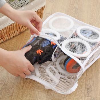 Worek na pranie Organizer na buty torba na buty siatkowe buty do prania torby na suche buty Organizer do domu przenośne torby na pranie tanie i dobre opinie Składany NYLON Czyszczenie Z361