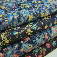 2018 New Patchwork Silk Fabric Tecidos Free Shipping Rural Style Cui Flower Cloth Jeans Thickness Pants Cotton Printed Fabric