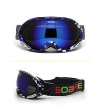 New snowboard goggles double anti fog photochromic big spherical lens motocross outdoor sports snow Anti-fog ski eyewear