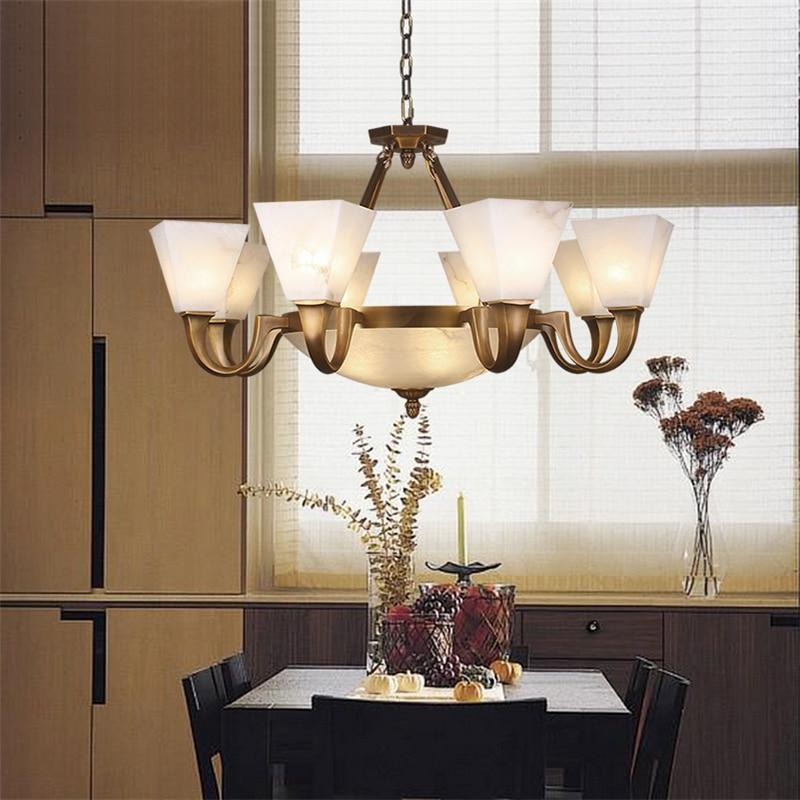 Кулон из лёгой меди Ампер Американский ретро ресторан светодиодный свет для спальни гостиной освещение медный свет ZH ZX104
