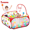 Foldable Children Kids Play Tent Ocean Ball Pool BOBO Pit with Hoop Playhouse Baby Educational Outdoor Hut Tent House