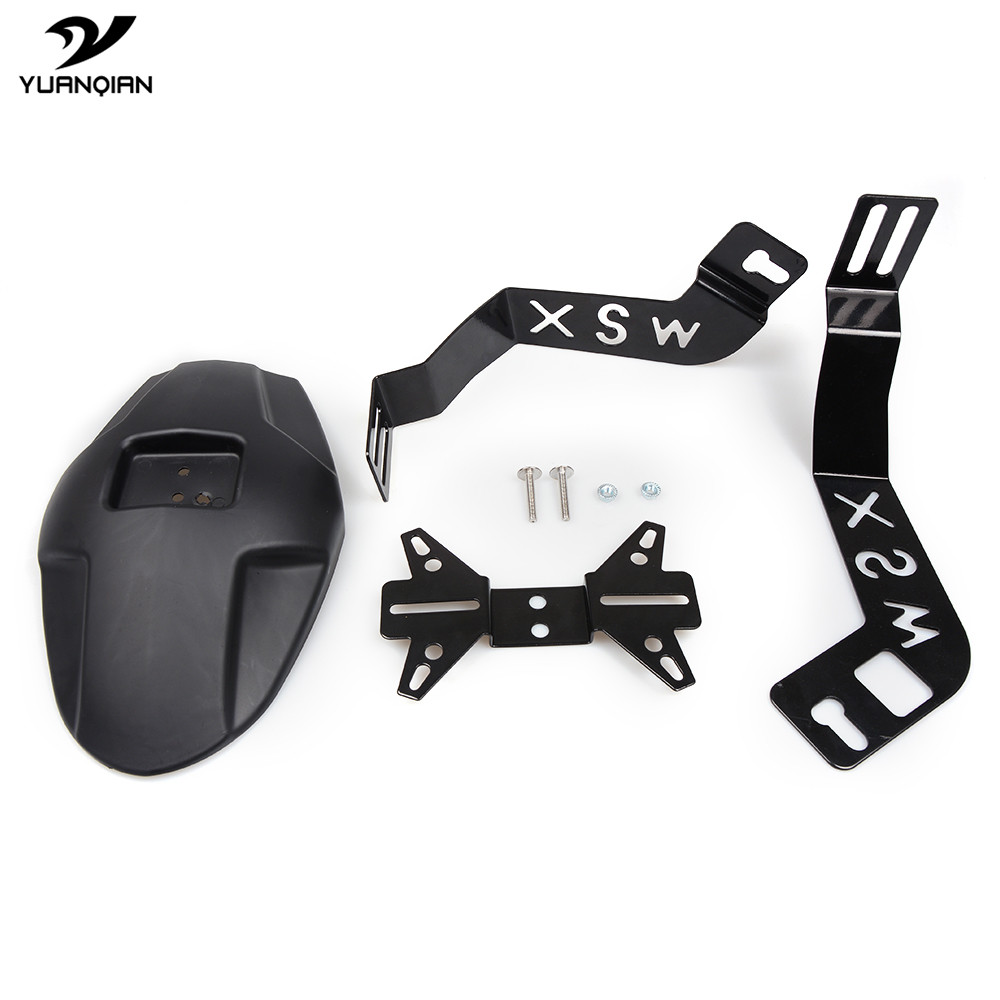 Motorcycle Accessories Rear Fender License Plate Bracket Mud Cover Guard Moto Mudguard For Honda MSX125 MSX 125 2013 2014 2015 motorcycle accessories engine guard cover kit for for honda msx1252013 2016 msx125sf 2013 2016