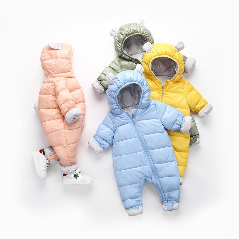 6e9eec45d50 Detail Feedback Questions about Spring Winter Jumpsuit Newborn Baby snowsuit  Snow Wear Coats Boy Warm Romper down Cotton Girl clothes Bodysuit WUA810256  on ...