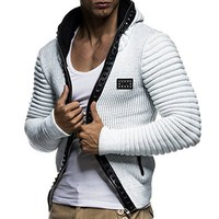 2018 Autumn Fashion Men Hoodies Brand Leisure Men Hoodie Sweatshirts Casual Zipper Hooded Jackets Male Rivet