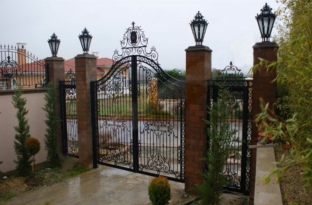 Handmade Top Villa Wrought Iron Gate One Stop Shipping To USA Hench-lg29