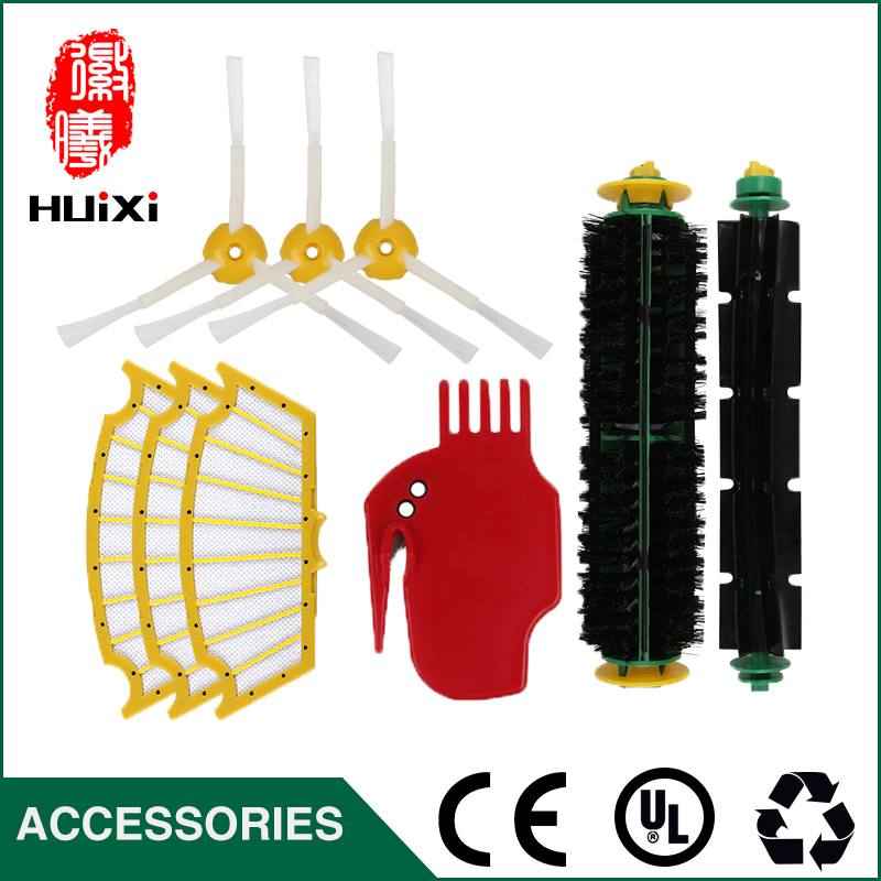 цены на Bristle & Flexible Beater Brush Armed Filter kit + Free Tool High Quality  for Vacuum Cleaner Accessories for 500 510 527 530 в интернет-магазинах