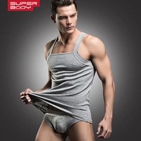 Famous Brand Men Tank Tops Undershirt Vest Briefs Underear Set First Class Cotton Male Sleep Pajama