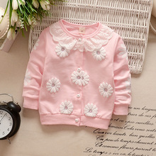Baby Girls Outwear Flowers Clothing For 0-36 M
