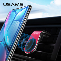 USAMS Magnetic Car Phone Holder Universal Paste Holder Stand For iPhone Samsung Xiaomi Huawei phone Holder Stand Car Mount