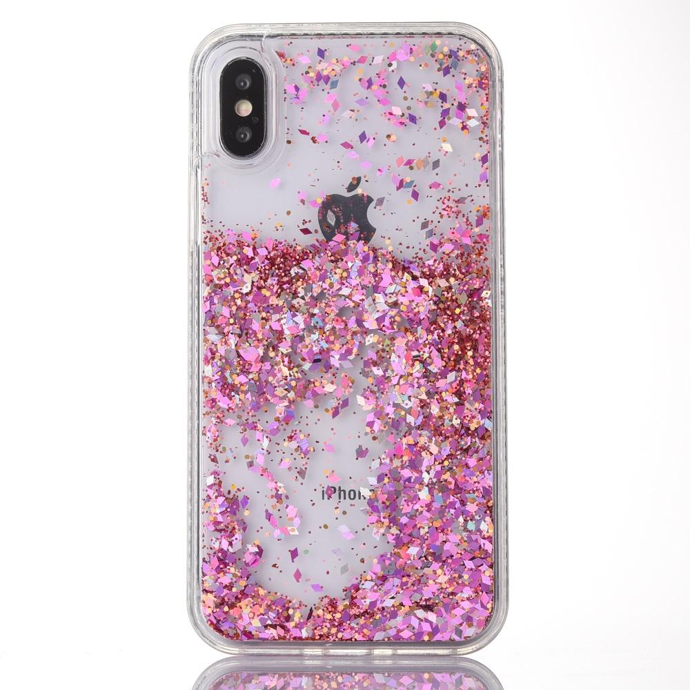 Half-wrapped Case C-ku Liquid Quicksand Diamond Glitter Plating Tpu Case For Iphone X 8 7 Plus 7plus I7 6 6s I6 Love Dream Letter Skin Luxury 1pcs Cellphones & Telecommunications