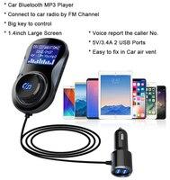 Siparnuo Bluetooth FM передатчик аудио автомобильный Mp3 плеер Беспроводной в-Автомобильный fm-модулятор громкой связи Bluetooth автомобильный набор, своб...