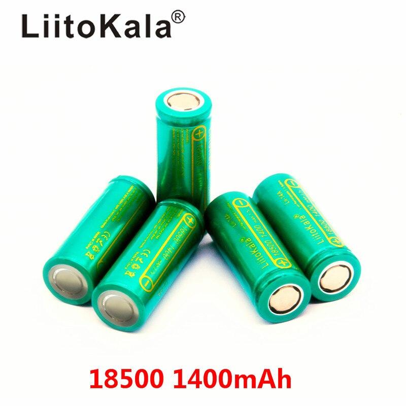 Liitokala bateria recarregável Lii-14A 18500, 1400 18500 v bateria 3.7v para cílios atacado seguro íon de lítio