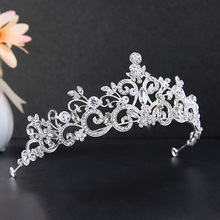 Bridal tiara pearl rhinestone crown wedding hair accessories hairband crown bridal hair jewelry