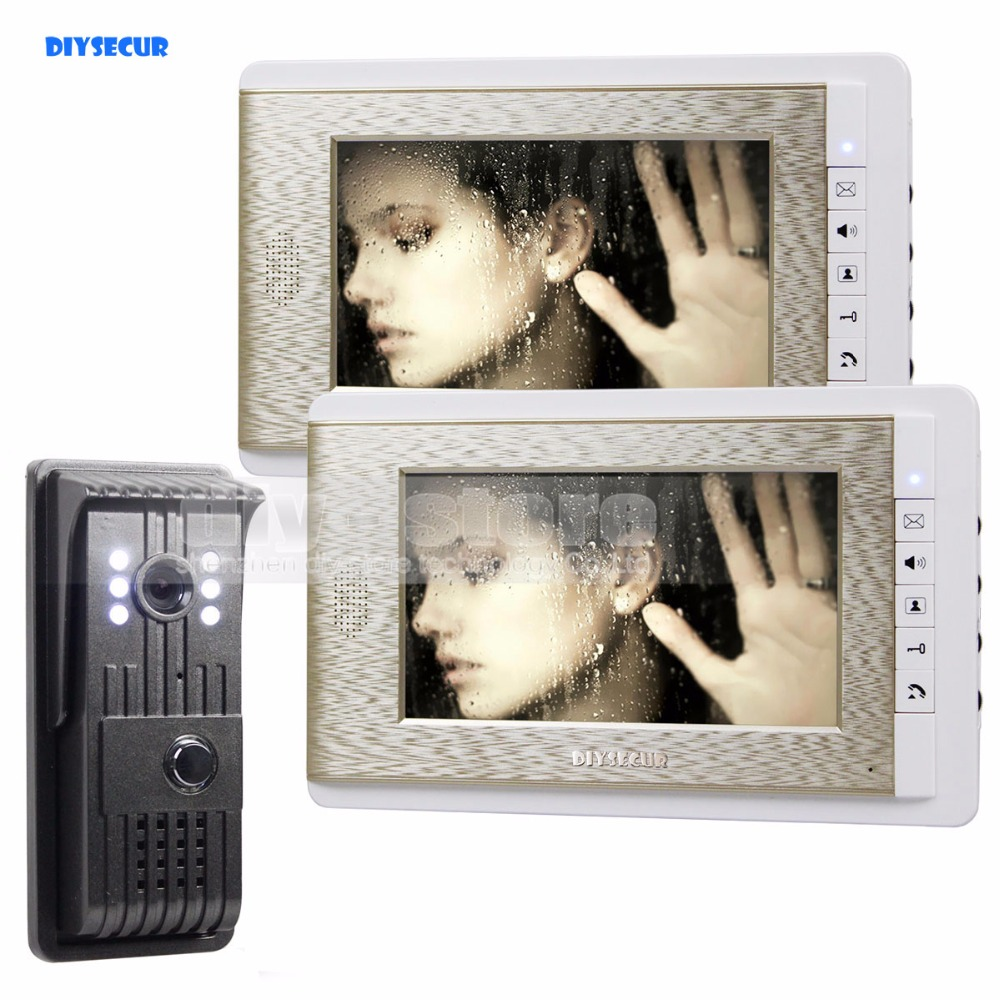 DIYSECUR 700TVLine HD Video Door Phone Doorbell 7 inch LCD Video Intercom LED Night Vision Door Camera Of Home Entry Intercom столлайн софия стл 098 25 ноче пегасо