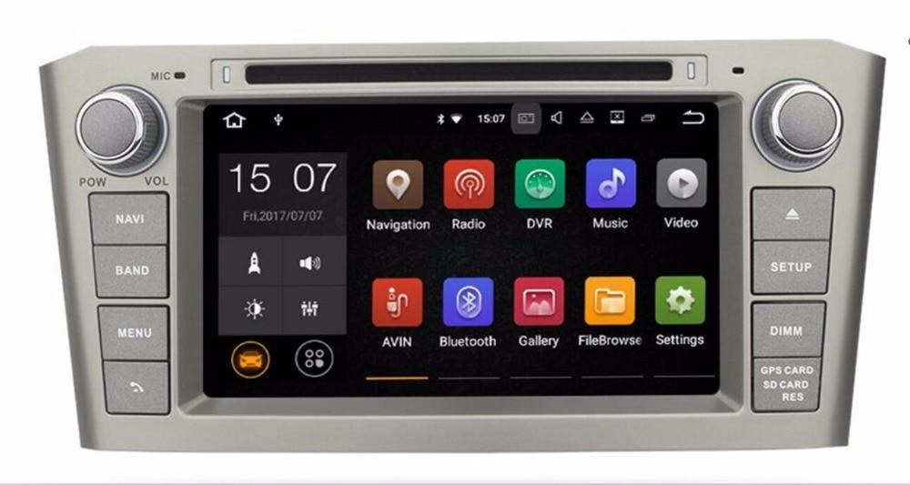 2din 2 GB RAM Android 7.1 DVD de VOITURE radio stéréo lecteur Pour TOYOTA AVENSIS 2003-2008 GPS navigatiohead unités WIFI magnétophone