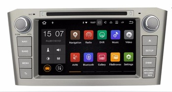 2din 2GB RAM Android 7.1 CAR DVD radio stereo player For TOYOTA AVENSIS 2003 - 2008 GPS navigatiohead units WIFI tape recorder
