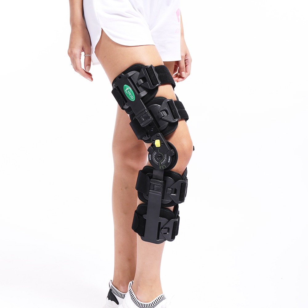 Hinged Knee Patella Brace Support Stabilizer Pad Belt Band Strap Orthosis Splint Wrap Immobilizer ROM Knee Brace adult adjustable knee orthosis knee support with bilateral hinges medical articulated knee brace patella compression kneepad