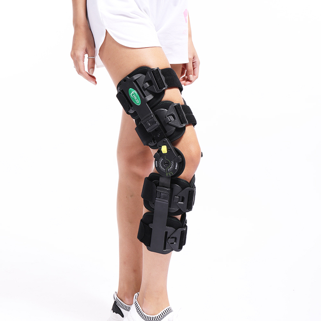 4e5ec2bc91 Hinged Knee Patella Brace Support Stabilizer Pad Belt Band Strap Orthosis  Splint Wrap Immobilizer ROM Knee