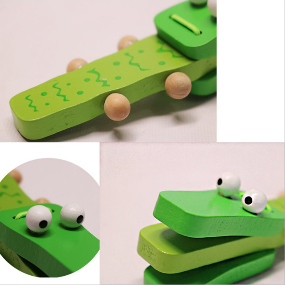 Orff world в форме крокодила деревянные кастаньеты детский музыкальный инструмент мультфильм ребенок музыкальное образовательное оборудование игрушка погремушка игрушка