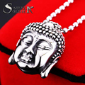 Steel solider top quality stainless steel buddha pendant necklace stainless steel jewelry for men and women