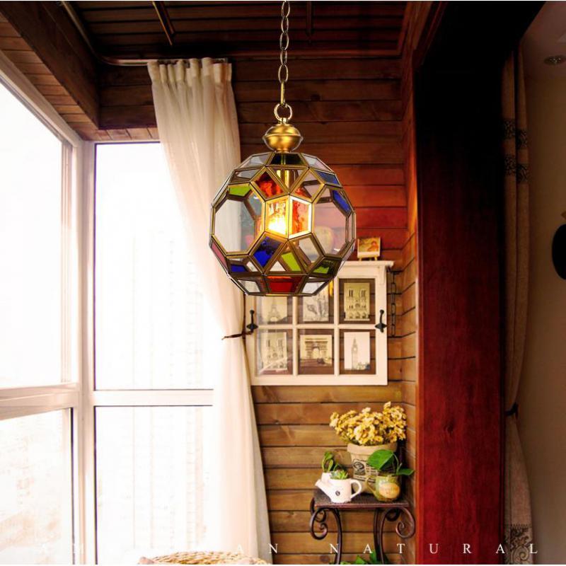 American Style pendant Light Porch lamps Aisle glass LED Lights Hallway Lights Exotic Style Vintage pendant lamp E27 silicone radiator